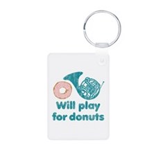 Will Play Horn for Donuts Keychains