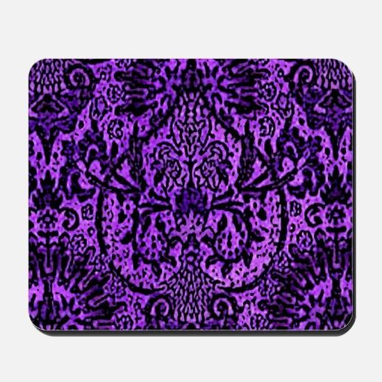Purple Gothic Fleur Mousepad