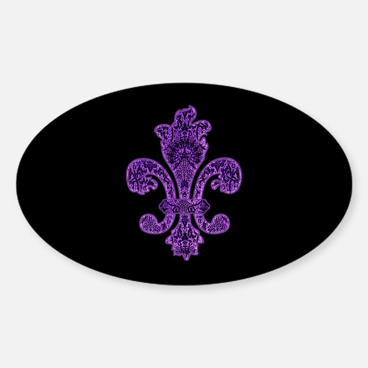 Purple Gothic Fleur Decal