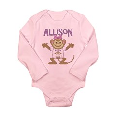 Little Monkey Allison Long Sleeve Infant Bodysuit