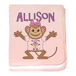 Little Monkey Allison baby blanket