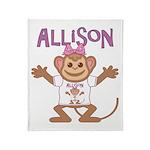 Little Monkey Allison Throw Blanket