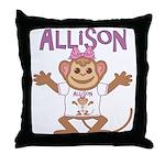 Little Monkey Allison Throw Pillow