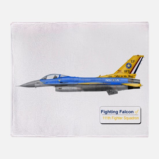111th Fighter Squadron Throw Blanket