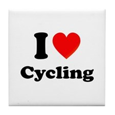 I Love Cycling: Tile Coaster