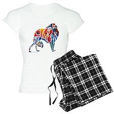 Borzoi on Dark T's Pajamas