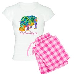 I Love Hippos of Many Colors Pajamas