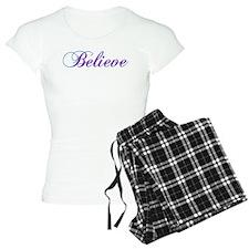 Believe Gifts in Purple & Teal Pajamas