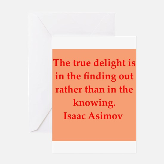 Isaac Asimov quotes Greeting Card