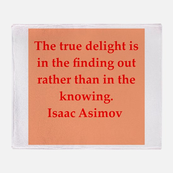 Isaac Asimov quotes Throw Blanket