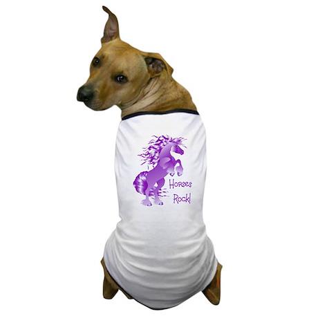 Horses Rock- Purple Dog T-Shirt