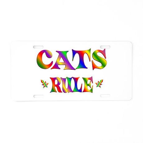 CATS RULE Aluminum License Plate