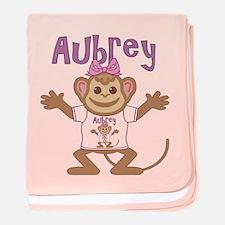 Little Monkey Aubrey baby blanket