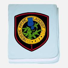 1st Squadron baby blanket