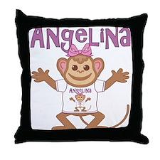 Little Monkey Angelina Throw Pillow