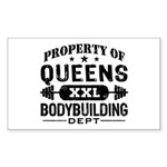 Property of Queens Bodybuilding Sticker (Rectangle