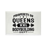 Property of Queens Bodybuilding Rectangle Magnet