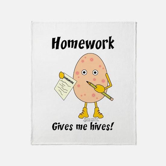 Homework Throw Blanket