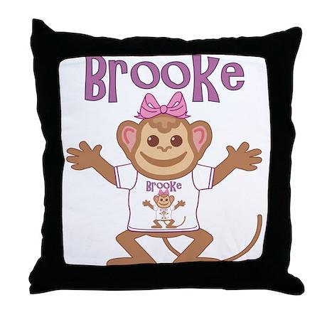 Little Monkey Brooke Throw Pillow