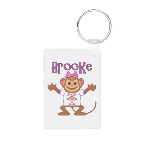 Little Monkey Brooke Aluminum Photo Keychain