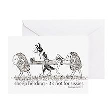 Sheep Herding Sissies Greeting Card