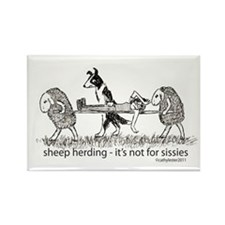 Sheep Herding Sissies Rectangle Magnet