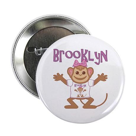 """Little Monkey Brooklyn 2.25"""" Button"""