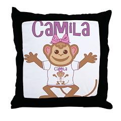 Little Monkey Camila Throw Pillow