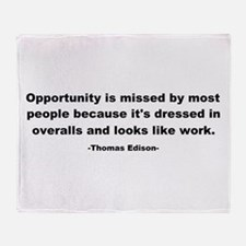Opportunity is missed Thomas Throw Blanket