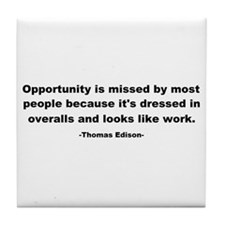 Opportunity is missed Thomas Tile Coaster