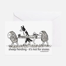 Sheep Herding Greeting Card