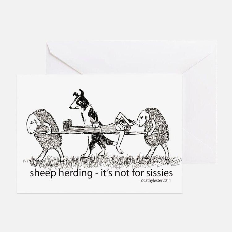Sheep Herding Greeting Card