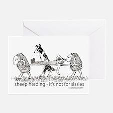 Sheep Herding Greeting Cards (Pk of 10)