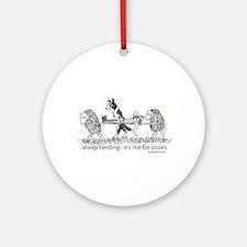 Sheep Herding Ornament (Round)