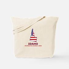 ID USA Flag Map 2 Tote Bag