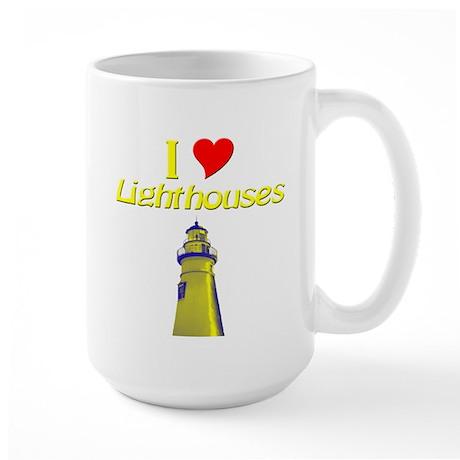 I love Lighthouses Large Mug