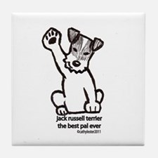 Jack Russell Terrier Pal Tile Coaster