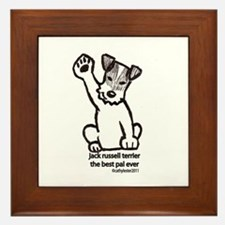 Jack Russell Terrier Pal Framed Tile