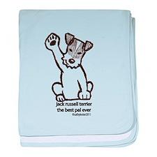 Jack Russell Terrier Pal baby blanket