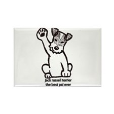 Jack Russell Greeting Rectangle Magnet