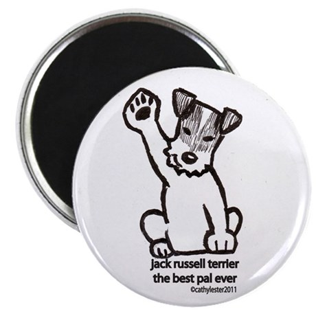 """Jack Russell Greeting 2.25"""" Magnet (10 pack)"""