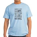 Bull Riding Gift Light T-Shirt