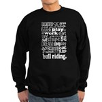 Bull Riding Gift Sweatshirt (dark)