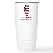 IL USA Flag Map 2 Travel Mug