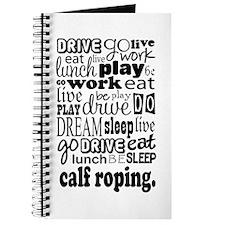 Calf Roping Gift Journal