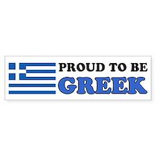 Proud To Be Greek Bumper Sticker