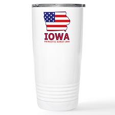 IA USA Flag Map 2 Travel Mug