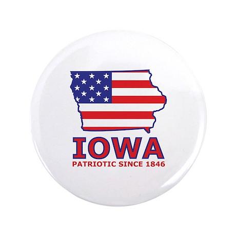 "IA USA Flag Map 2 3.5"" Button"