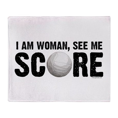See Me Score Volleyball Throw Blanket
