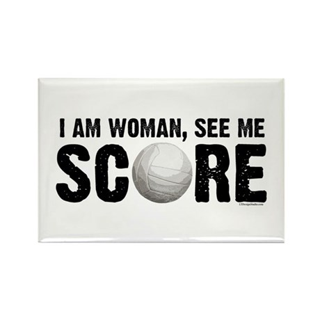 See Me Score Volleyball Rectangle Magnet (10 pack)